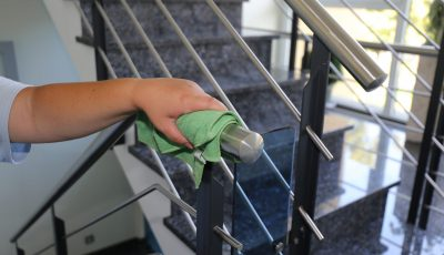 Professional,Staircase,Cleaning,,Close,Up